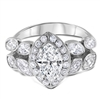 Marquise Nature Diamond Engagement Ring 2.5 TCW
