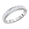 Matching Diamond Wedding Band Channel Invisible Set Princess Cut Ring in White Gold 14K 0.62 ct. tw.