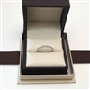 Round Diamond Wedding Band Ring in White Gold 14K 1/5 ct. tw.