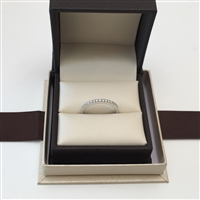 Pave Matching Round Diamond Wedding Band Anniversary Ring in White Gold 14K 0.16 ct. tw.