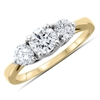 Round Brilliant Cut  Diamond Engagement Ring in 14k Yellow Gold 1.00 ct. tw.
