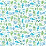 Whale of a Time by Deborah Edwards for Northcott 21272-10 Half yard