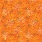 Benartex Boooo Ville Webbing Orange 2430-29 Half Yard