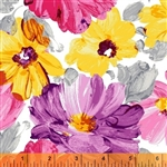 Windham Finger Painted Flowers 40749-1 Half yard