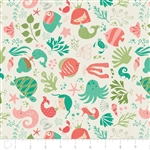 Under the Sea - Ocean Play - Cream by Heather Rosas for Camelot 6141601-02