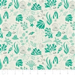 Under the Sea - Sea Creatures - Turquoise by Heather Rosas for Camelot 6141603-01