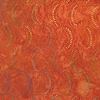 Benartex Calypso Balis Clouds Orange 7036-38 Half yard