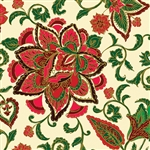 Benartex Noel Jacobean Cream 8183M-07 Half yard