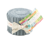 Moda Bella Solids Jelly Roll Steel 9900JJR-184