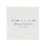 Moda Bella Solids Charm Pack White 9900PP-98