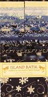 Island Batik Strip Pack Blue Moon