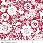 Riley Blake Song Bird Red - Floral C2861 Half Yard