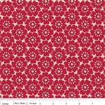 Riley Blake Song Bird Red - Petals C2862 Half Yard
