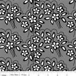 Mystique Flower Black C3082 Half Yard