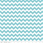 Small Chevron Aqua C340-20 Half Yard