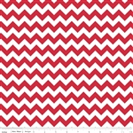 Small Chevron Red C340-80 Half Yard
