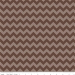 Small Chevron Tone on Tone Brown C400-91 Half Yard