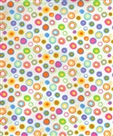 Timeless Treasures Multi Dot-C8640-White Half Yard
