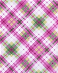 Timeless Treasures Flora Plaid FLORA-C1073-Pink Half Yard