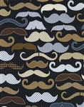 Timeless Treasures Moustaches Fun-C1121-Black Half Yard