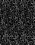 Timeless Treasures Happy Dash Twirls GAIL-C7746-Black Half Yard