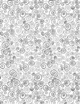 Timeless Treasures Happy Dash Twirls GAIL-C7746-White Half Yard
