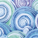 Philip Jacobs - Fall 2016 - Spiral Shells - Sky Blue PWPJ073.SKYBL Half Yard