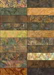 Island Batik Strip Packs Wild Truffle