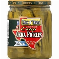 TALK O TEXAS PICKLED OKRA 16 OZ