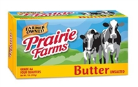 PRAIRIE FARMS BUTTER UNSALTED 16 OZ