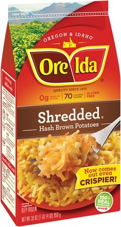 SHREDDED HASH BROWN ORE IDA 30 OZ