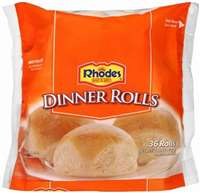 RHODES WHITE ROLLS 48 OZ 36 CT
