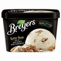 BREYER BUTTER PECAN ICE CREAM 48 OZ
