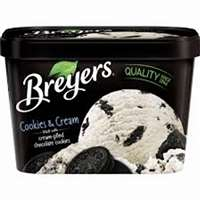 BREYER COOKIES-N-CREAM ICE CREAM 48 OZ