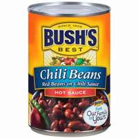 BUSH'S HOT CHILI BEANS 16 OZ