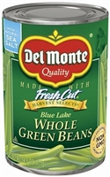 WHOLE GREEN BEANS DEL MONTE 14.5 OZ
