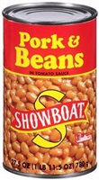 SHOWBOAT PORK BEANS 27.5 OZ