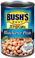 BUSH'S FRESH BLACK EYE PEAS 15.8 OZ