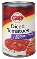 DICED TOMATOES WITH ROASTED GARLIC 14 OZ