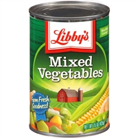LIBBY'S MIXED VEGETABLES 15 OZ