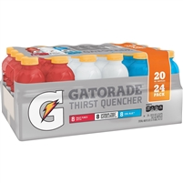 GATORADE (PUNCH, GLACIER CHERRY, COOL BLUE) 24 - 20 OZ