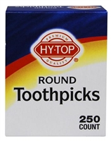HY TOP ROUND TOOTHPICKS 250 CT