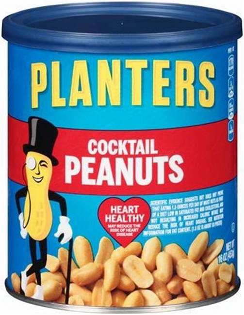 PLANTER COCKTAIL PEANUTS 16 OZ