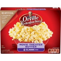 ORVILLE REDENBACHER MOVIE THEATRE POPCORN 6 PK