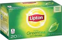 LIPTON GREEN TEA BAGS 20'S