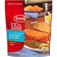TYSON CHICKEN PATTIES 26 OZ