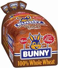 BUNNY WHOLE WHEAT BREAD 16 OZ