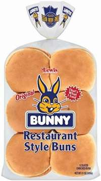 BUNNY HAMBURGER BUNS 12 CT