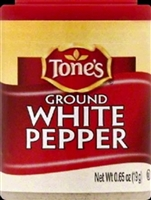 TONES GROUND WHITE PEPPER .65 OZ