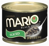 MARIO SLICED BLACK OLIVES 2 OZ